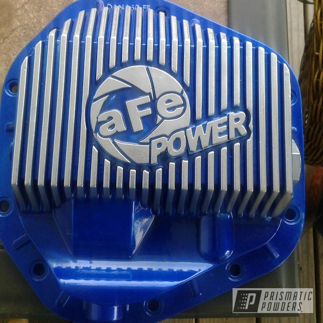 Powder Coating: Automotive,SUPER CHROME USS-4482,chrome,Blue,Formosa Blue PPB-5021,Differential Cover,powder coated,Ford,f250