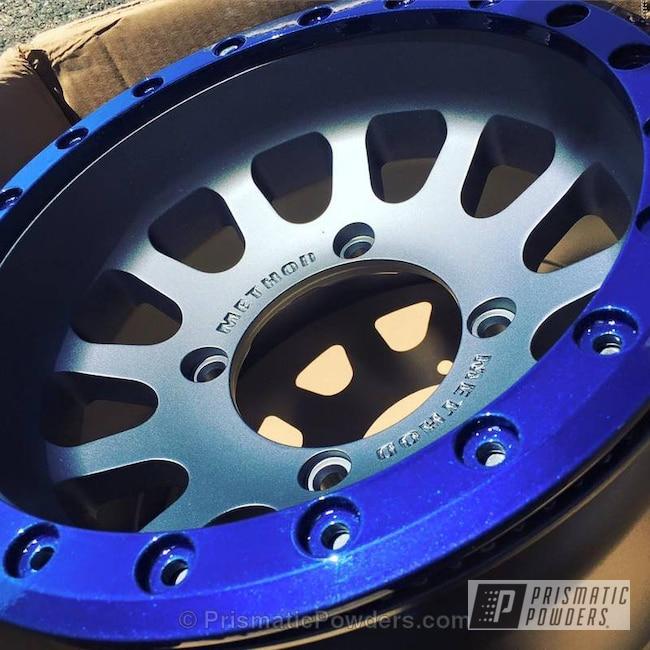 Powder Coating: Wheels,Peeka Blue PPS-4351,Charcoal,Race Wheels,Method,Kingsport Grey PMB-5027,Blue,powder coated,STEALTH CHARCOAL PMB-6547