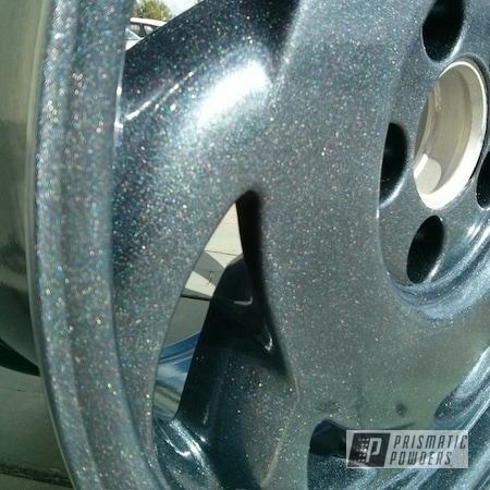 Powder Coating: Wheels,Ink Black PSS-0106,Powder Coated Corvette Wheels,Diamond Pearl Clear PPB-6631