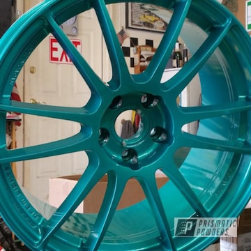 Jamaican Teal Over Super Chrome With Clear Vision Top Coat