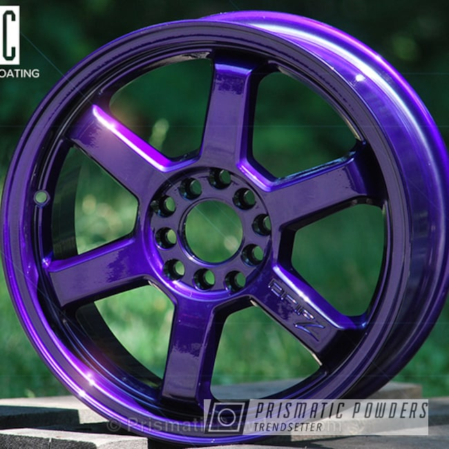 Powder Coating: Illusion Purple PSB-4629,Wheels,Clear Vision PPS-2974,Powder Coated DriftZ Honda Wheel