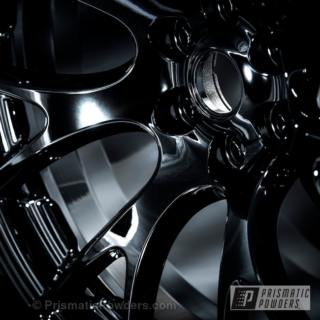 Powder Coating: Wheels,Automotive,Ink Black PSS-0106,Powder Coated Viper Wheel