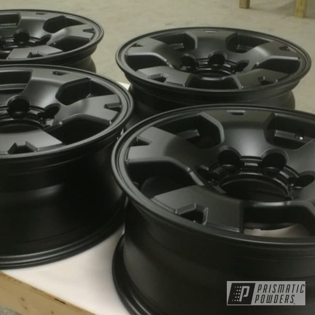 Powder Coating: Wheels,Flatter Black ESS-4441,Powder Coated  2004 Tacoma Wheels