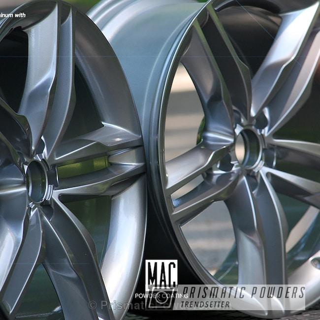 Powder Coating: Wheels,Black Chrome II PPB-4623,Powder Coated Audi Rims,chrome