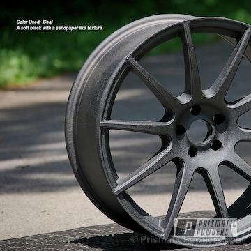 Wheels Done In A Coal Powder Coat