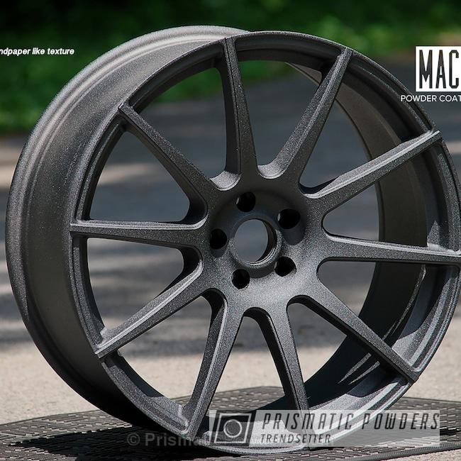 Powder Coating: Wheels,Automotive,Powder Coated Audi Wheels,Coal PCB-1112