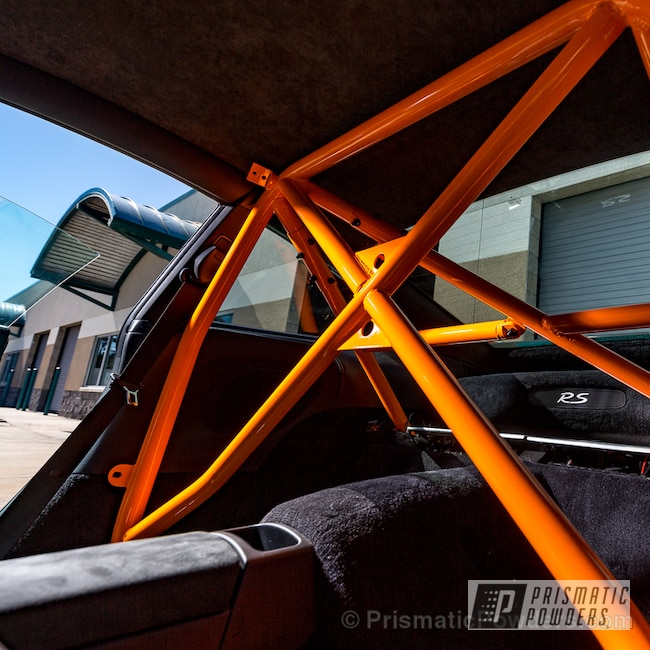 Powder Coating: Powder Coated GT3RS Roll Cage,Off-Road,Melon Orange PSS-4972