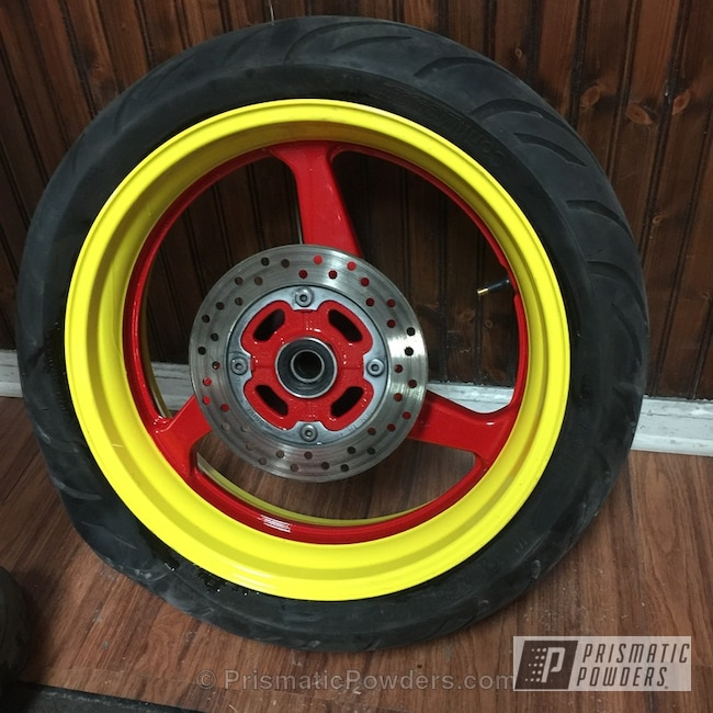 Powder Coating: New York Yellow PMB-2414,Motorcycles,Astatic Red PSS-1738