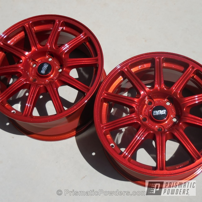 Powder Coating: Wheels,Silver Sparkle PPB-4727,Illusion Copper Plus PMB-5043
