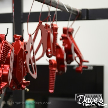Anodized Red Over Polished Aluminum