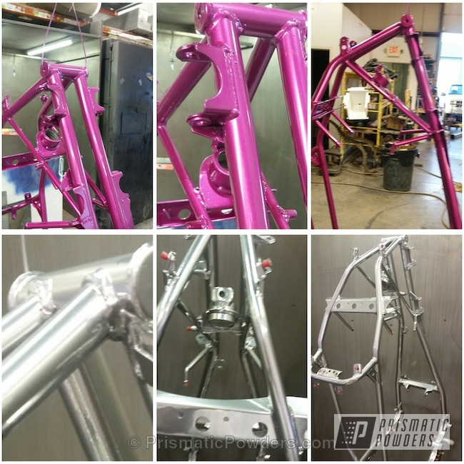 Powder Coating: Clear Vision PPS-2974,SUPER CHROME USS-4482,ATV,chrome,BOOTY'S BERRY UPB-2221