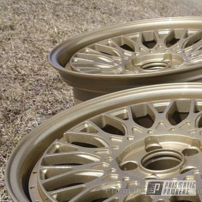 Powder Coating: Wheels,Clear Vision PPS-2974,ROMAN GOLD UMB-1638