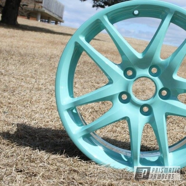 Powder Coating: Wheels,Clear Vision PPS-2974,Sea Foam Green PSS-4063