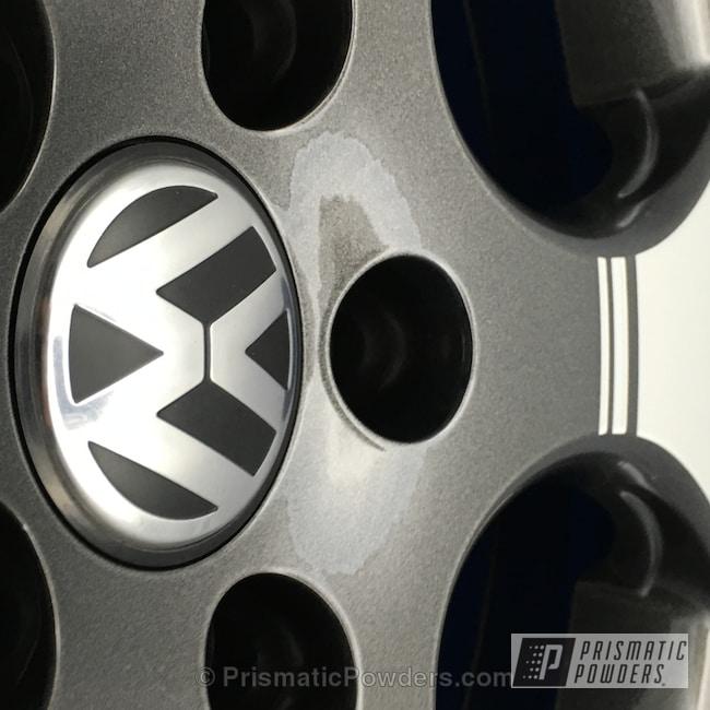 Powder Coating: Wheels,Clear Vision PPS-2974,Powder Coated CNC Diamond Cut Wheels,Crystal Grey PMB-5913