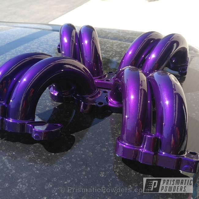 Powder Coating: Illusion Purple PSB-4629,Automotive,Clear Vision PPS-2974,Powder Coated Engine Components,Engine Components
