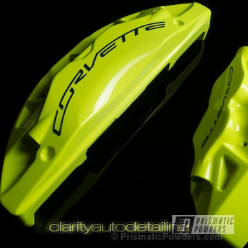 Neon Yellow With Clear Vision Top Coat