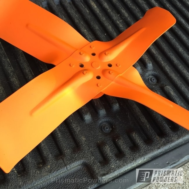 Powder Coating: Automotive,Casper Clear PPS-4005,RAL 2004 Pure Orange,Powder Coated Fan Blades