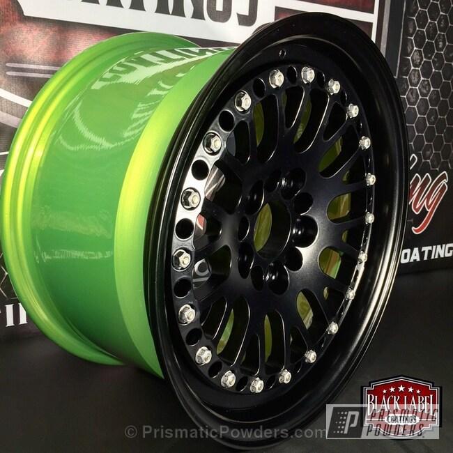 Powder Coating: Wheels,Powder Coated CCW Classic Wheel,Glowing Yellow PPB-4759