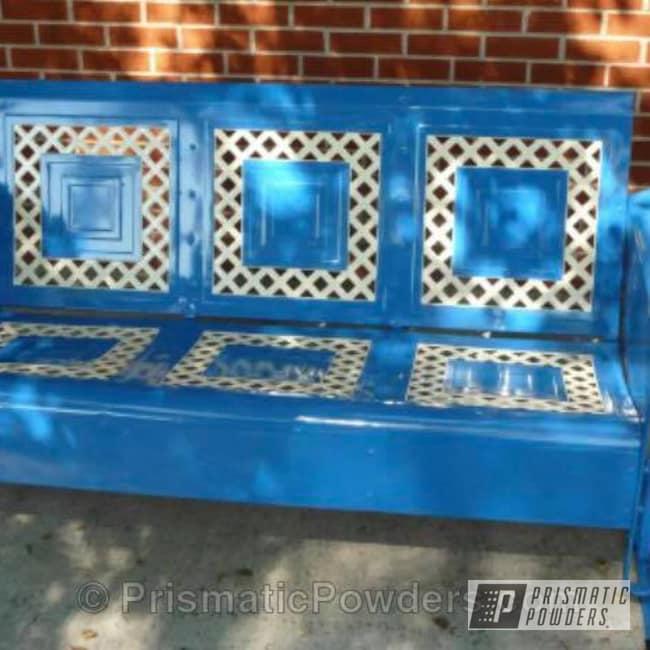 Powder Coating: RAL 1013 Oyster White,Custom Furniture,Antique Glider,RAL 5019 Capri Blue,Furniture