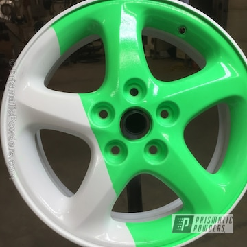 Cloud White With Neon Green