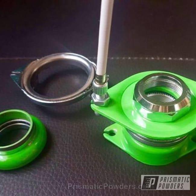 Powder Coating: Single Powder Application,Bicycles,Energy Green PSB-6669,Custom Bicycle Parts,Gyro Green