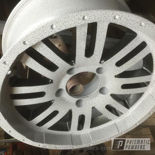 Powder Coating: Wheels,Grey/Black Vein PVS-4775,Powder Coated Wheel,Silver Artery PVS-3014