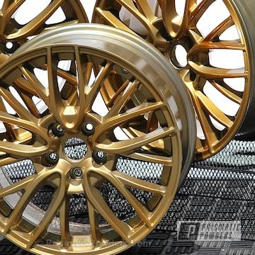 Custom Subaru Wheels Done In A Transparent Gold Finish