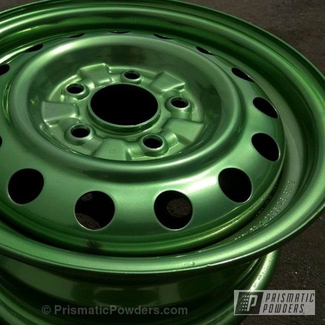Psycho Lime Over Polished Aluminum