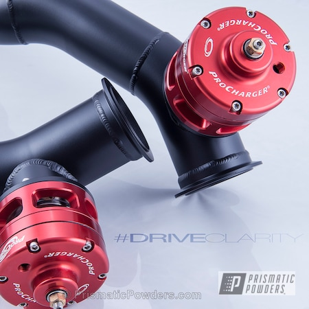 Powder Coating: Automotive,Powder Coated Viper Twin Turbo Charge Pipes,Silk Satin Black HSS-1336