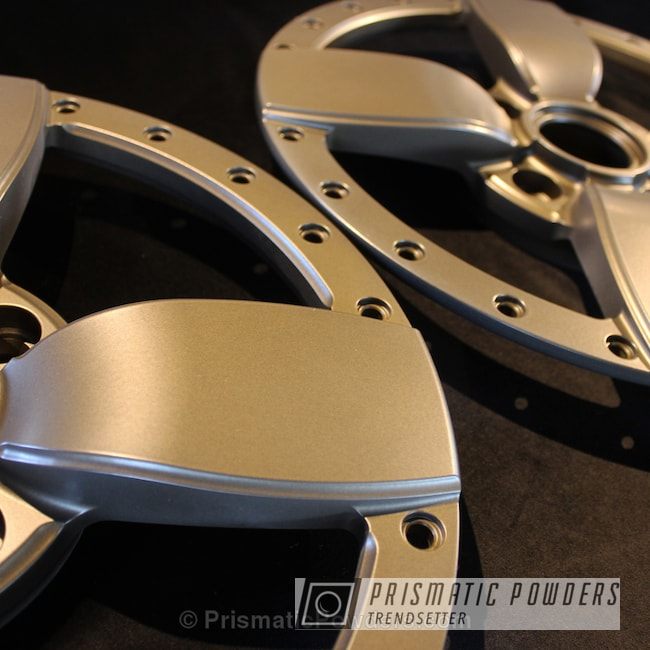 Powder Coating: Stone Bronze PMB-2106,MATTE CLEAR PPB-4509,Wheels,Automotive,Powder Coated Barramundi Design Wheels