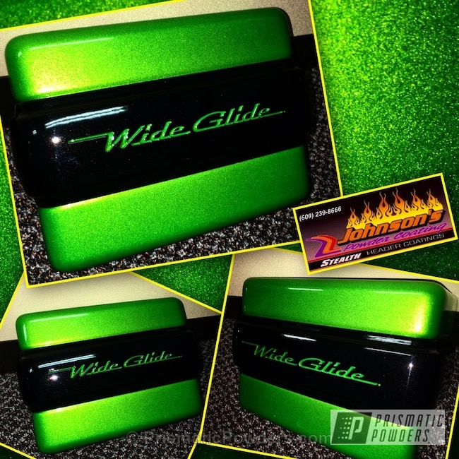 Powder Coating: Illusion Lime Time PMB-6918,Clear Vision PPS-2974,GLOSS BLACK USS-2603,Powder Coated Wide Glide,Motorcycles
