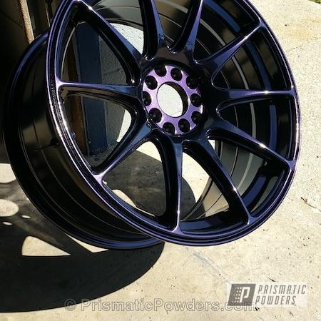 Powder Coating: Wheels,Automotive,Powder Coated Wheel,Purple Metallic PMB-4103