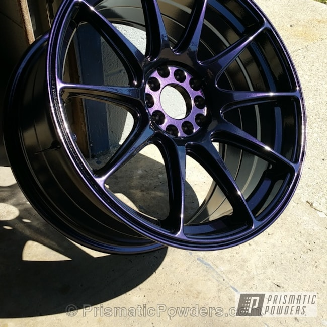 Powder Coating: Wheels,Automotive,Powder Coated Wheel,Purple Metallic PMB-4103