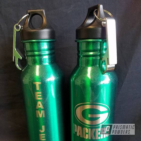 Powder Coating: Single Powder Application,Football Theme,Green Bay Packers,Ash Green PPB-2655,NFL,Custom Bottle Keepers,Miscellaneous