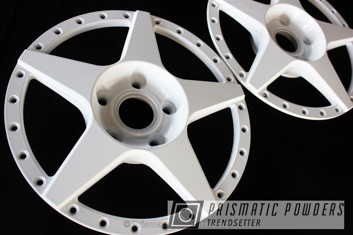 Powder Coating: Wheels,Powder Coated Barramundi Design Wheels,Gloss White PSS-5690