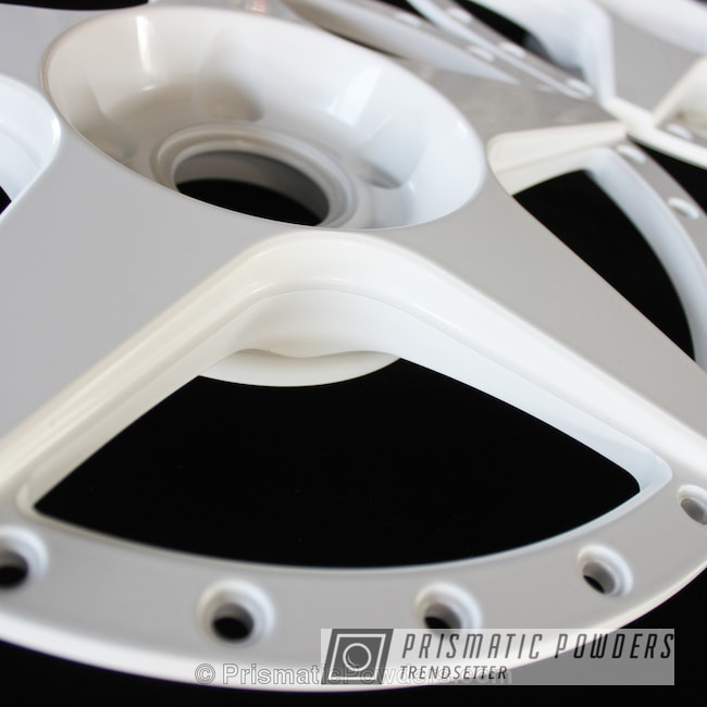 Powder Coating: Wheels,Powder Coated Barramundi Design Wheels,Gloss White PSS-5690