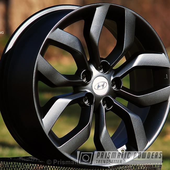 Powder Coating: Wheels,STERLING BLACK UMB-1204,Powder Coated Hyundai Wheel