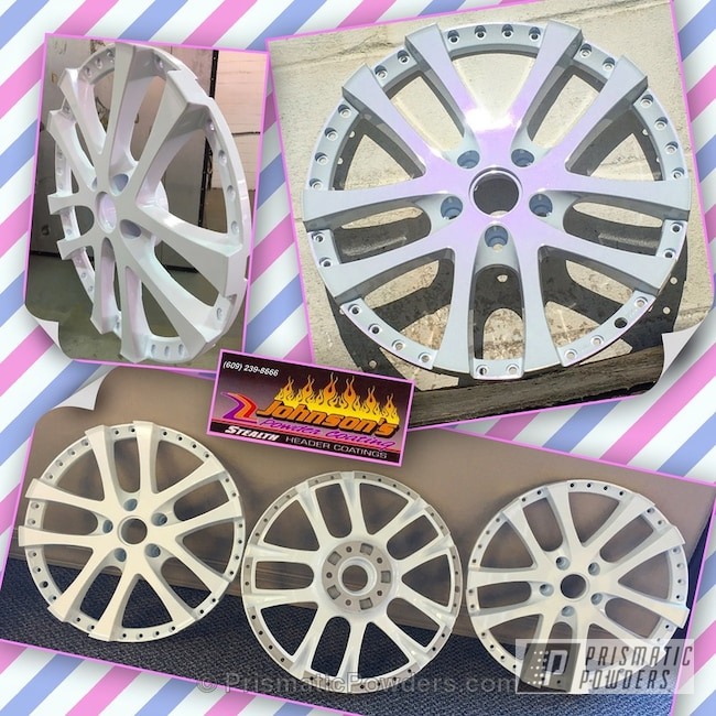 Powder Coating: Wheels,Clear Vision PPS-2974,Powder Coated Wheels,PEARLIZED VIOLET UMB-1536