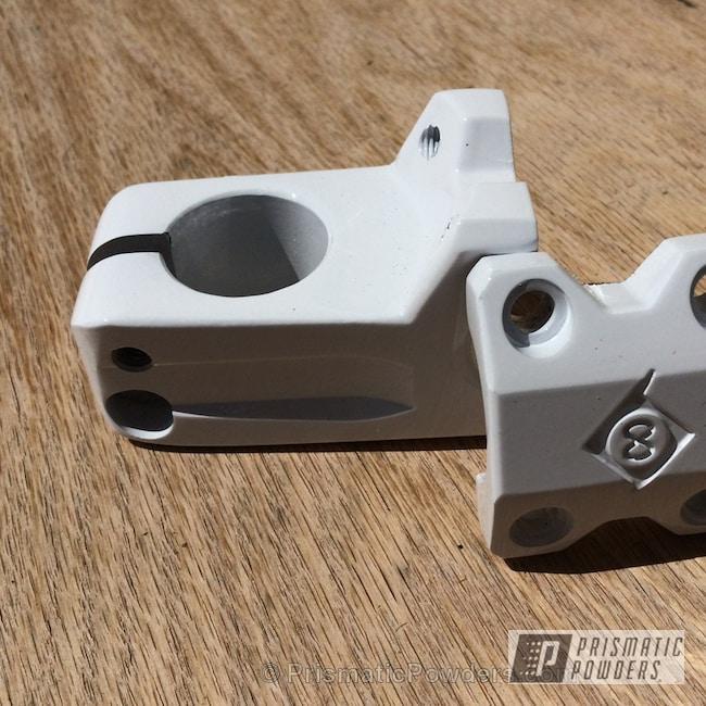 Powder Coating: Powder Coated Ruckus Handlebars,Polar White PSS-5053,Motorcycles