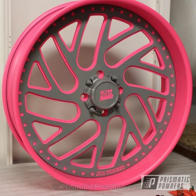 Powder Coating: Wheels,ATV,Powder Coated ATV Wheel,Flat Sassy PSB-6961,Lava Grey PSS-5236