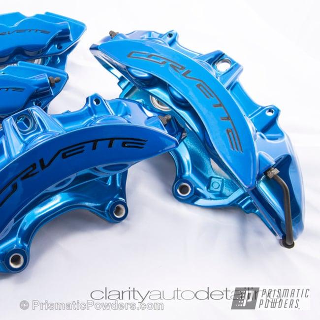 Peeka Blue Over Polished Aluminum