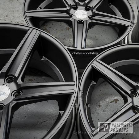 Powder Coating: FORGED CHARCOAL UMB-6578,Automotive,Powder Coated Niche Wheels