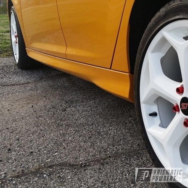 Powder Coating: Wheels,Soft Satin White PSS-1353,Powder Coated Wheels