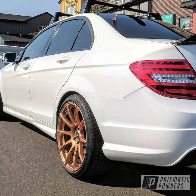 Powder Coating: Illusion True Copper PMB-10044,Wheels,Automotive,Clear Vision PPS-2974,Two Stage Application,Custom Wheels,Mercedes,Clear Top Coat,Copper Wheels