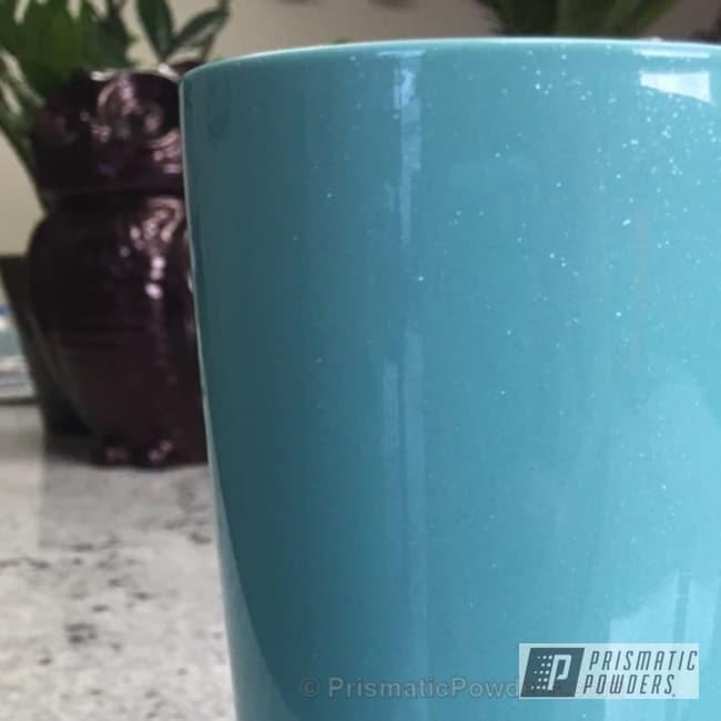 Powder Coating: Clear Lights PPB-4864,Sea Foam Pearl PMB-6797,Powder Coated Yeti Cup,Miscellaneous