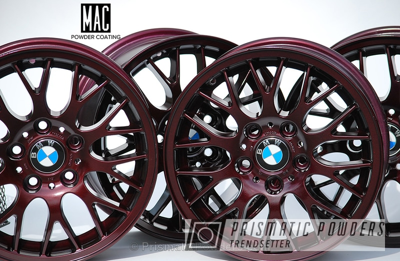Powder Coating: Wheels,Clear Vision PPS-2974,Powder Coated BMW Wheels,Illusion Malbec PMB-6906