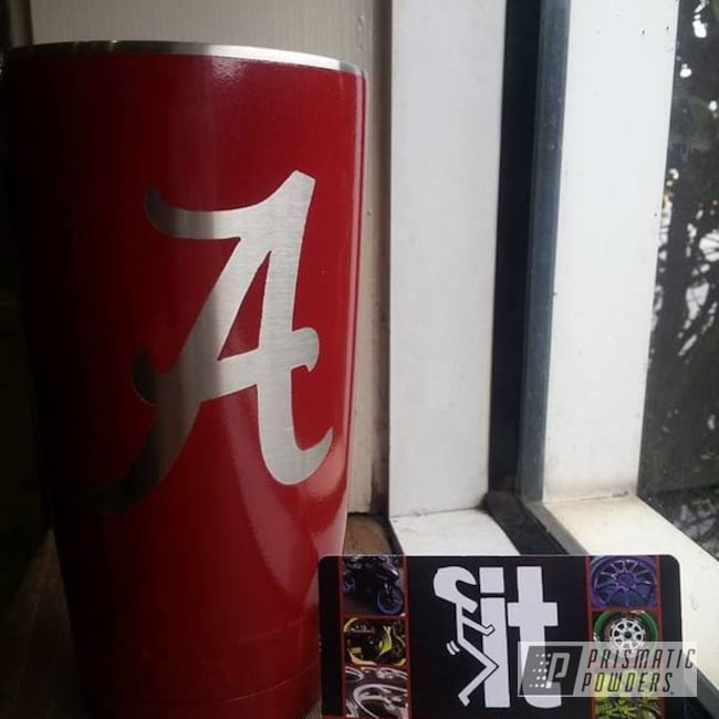 Powder Coating: Powder Coated 20oz Yeti Tumbler Alabama University,Modesto Burgundy PMB-1951,Tumbler,Miscellaneous