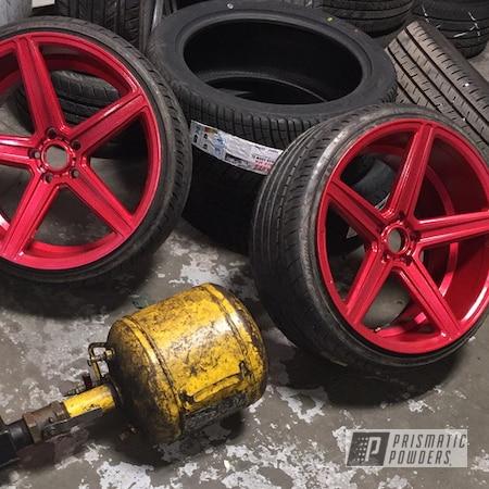 "Powder Coating: Wheels,Disco Red PPB-7044,LOLLYPOP RED UPS-1506,Powder Coated 20"" STR Wheels"