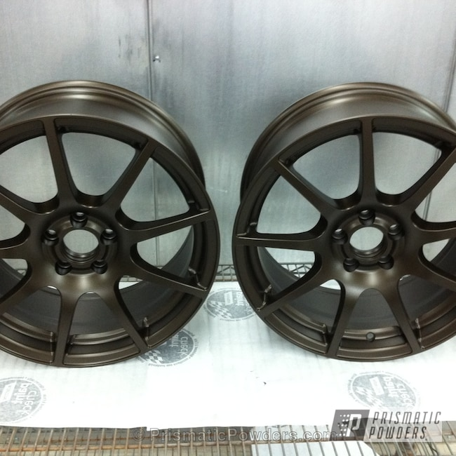 Powder Coating: Stone Bronze PMB-2106,Wheels,Powder Coated Wheels