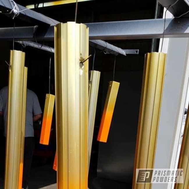 Powder Coating: Two Stage Application,Custom Jet Ski Tote Rails,Striker Gold PPB-6361,Brass Sparkle PPB-4021,Miscellaneous